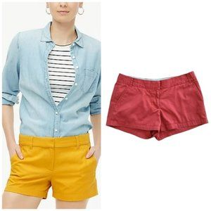 J. Crew Women's Rust Red Chino Shorts Size 10